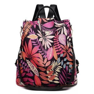 Purple and pink colorful backpack purse