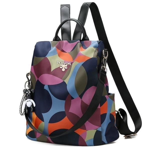 Anti theft backpack colorful for women, Design 1, Design 2, Design 3