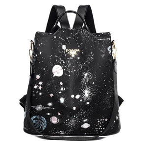 astronomy design backpack purse