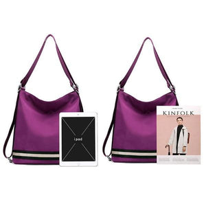 Two Hadley Women Luxury Backpack Shoulder Bag with ipad and magazine