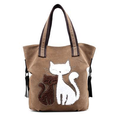 bag with cats on it