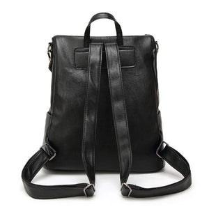 Black backpack with adjuatble strap