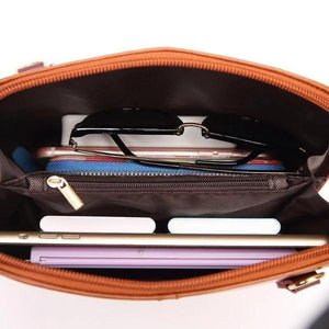 Leather 2 compartment handbag