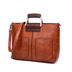 Brown crossbody small tote bag