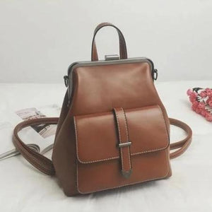 Deborah, Luxury Convertible Backpack for Women, brown
