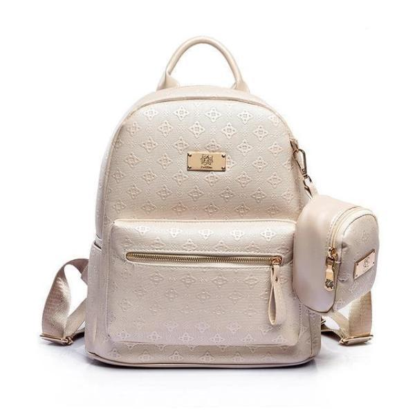 Storage compartment fashion backpack