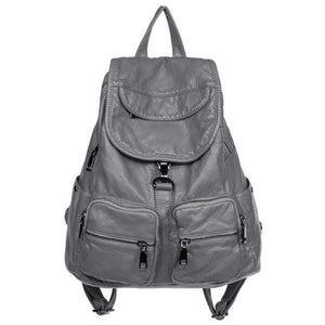 Soft leather backpack womens