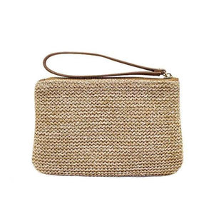 straw clutch purse