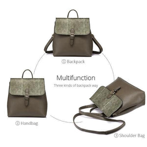 Multi function Anti theft backpack also can serve as an handbag