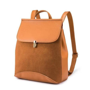 Brown Leather backpack purse with convertible shoulder strap