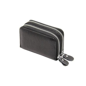Black RFID credit card small wallet womens