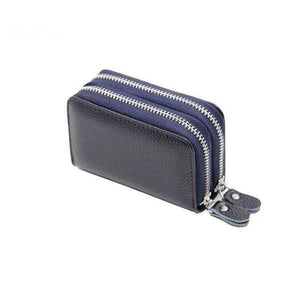 Blue RFID credit card small wallet womens
