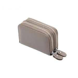 Gray RFID credit card small wallet womens