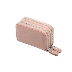 Pink RFID credit card small wallet womens