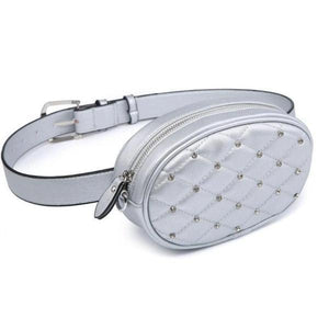 Silver cute belt bag for womens