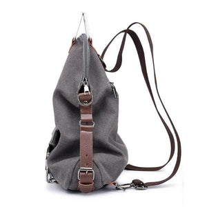 canvas backpack messenger women