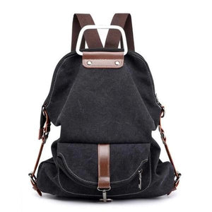 Black Convertible canvas backpack messenger crossbody purse