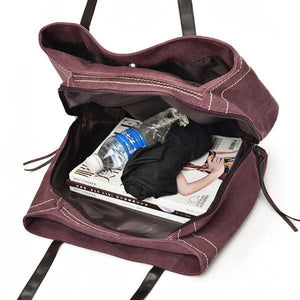 triple compartment bag