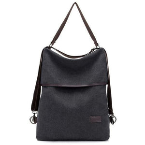 Vera, Women Multifunctional Soft Leather Backpack, black