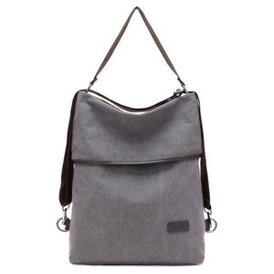 Vera, Women Multifunctional Soft Leather Backpack, gray