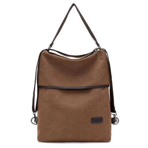 Vera, Women Multifunctional Soft Leather Backpack, brown
