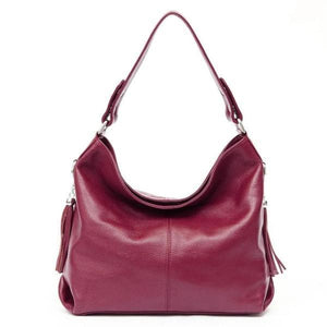 Burgundy leather crossbody bag large hobo purse