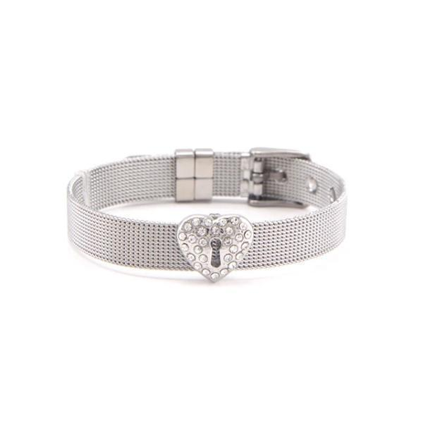 Fancy mesh bracelet with snowflake charm