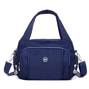 Blue crossbody nylon shoulder bag