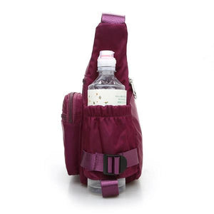 women bag with bottle holder