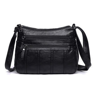black vegan leather bag