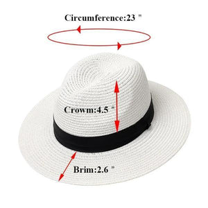 Adjustable straw hat for women