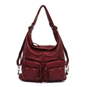 Freya, Convertible Multifunctional Bag, crimson