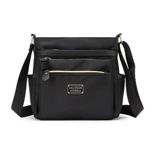Black nylon crossbody purse women