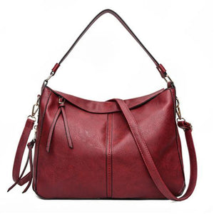 Red leather crossbody purse