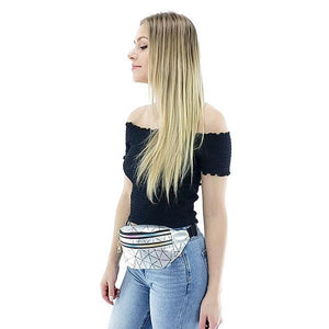 silver cheap fanny pack