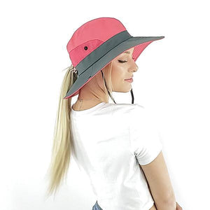 Summer ponytail hat, Beige, Khaki, Pink, Watermelon, Red, Blue, orange, Purple