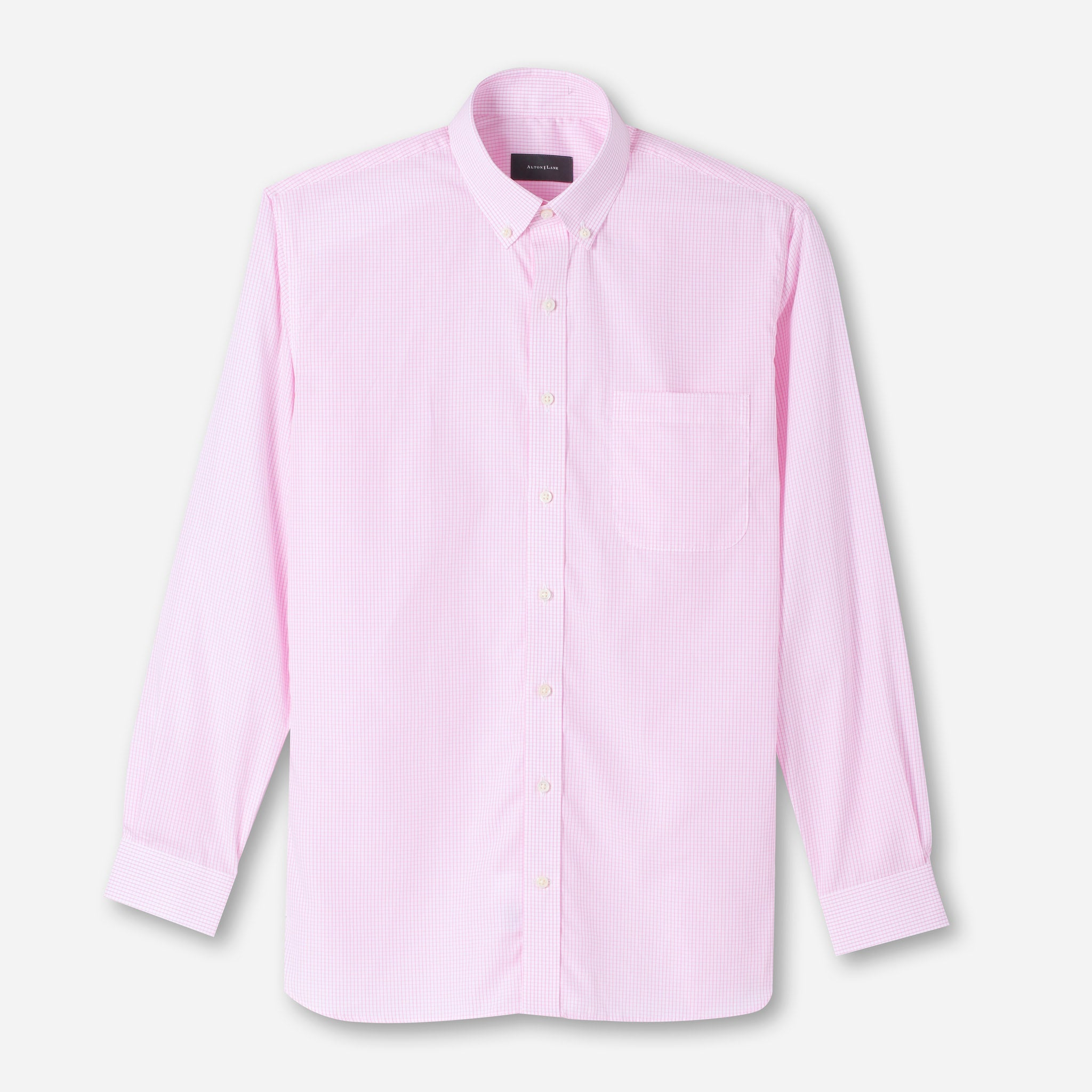 Mason Everyday Premium Shirt in Pink Grid Check