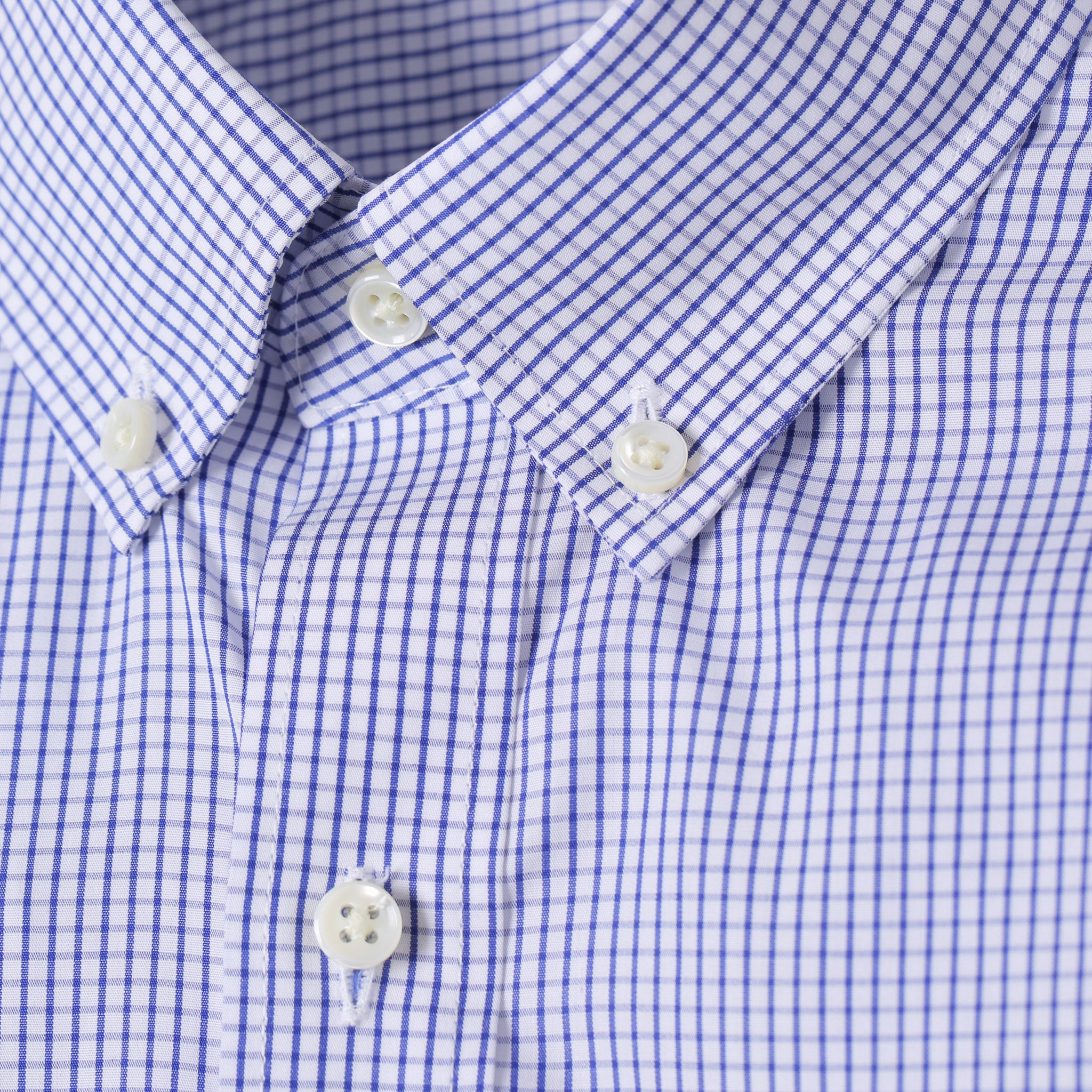 Mason Everyday Premium Shirt in Navy Grid Check