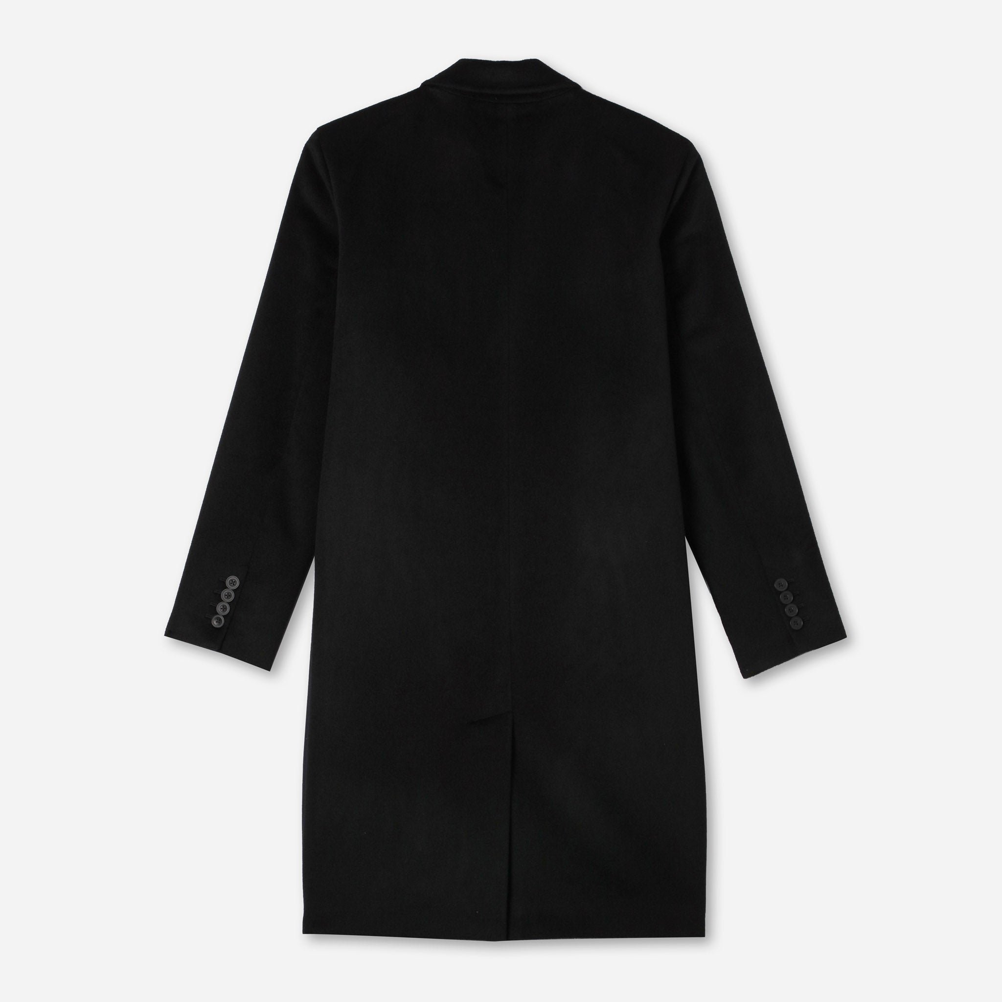 James Luxe Top Coat Loro Piana in Black