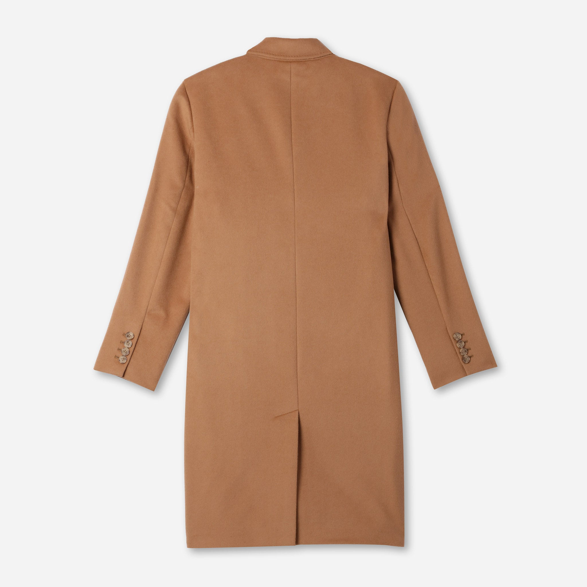 James Luxe Top Coat Loro Piana in Camel