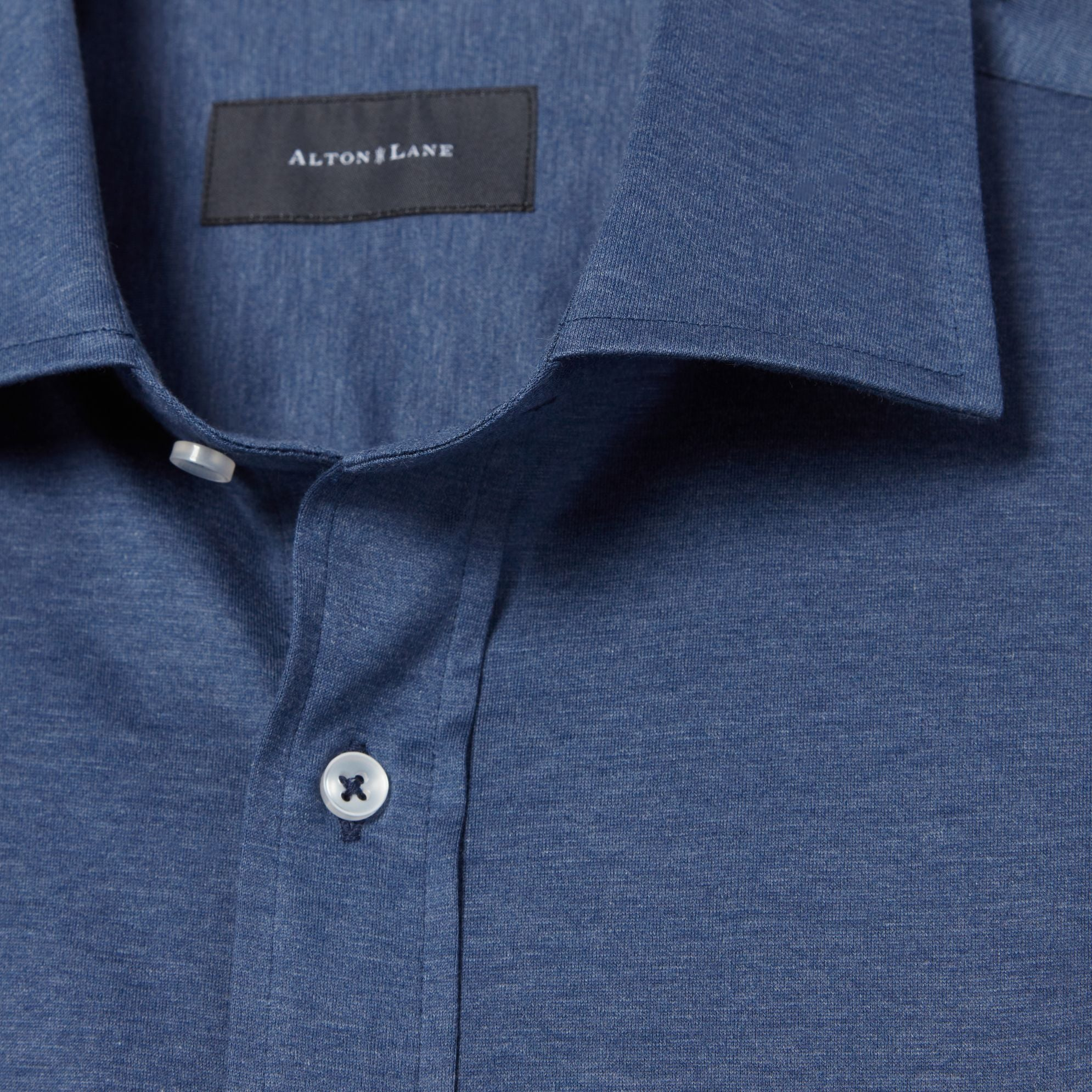 The Zoom Shirt in Heathered Navy