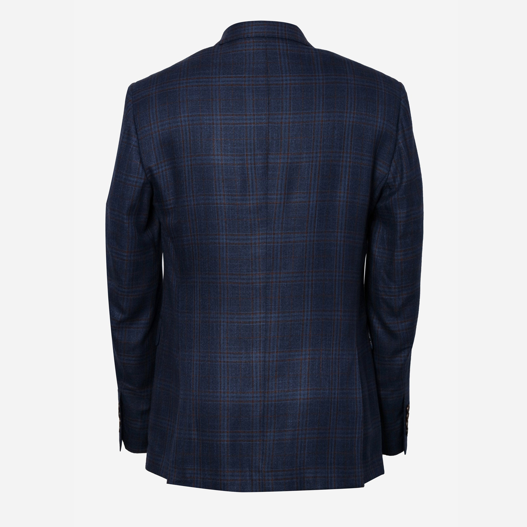 Bamboo in Navy Plaid