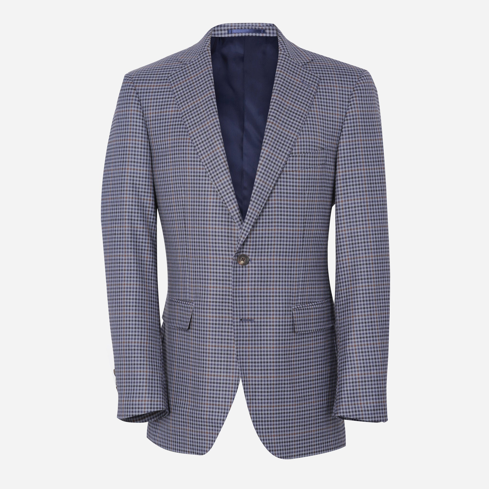 Secco Everyday Blazer in Purple Check
