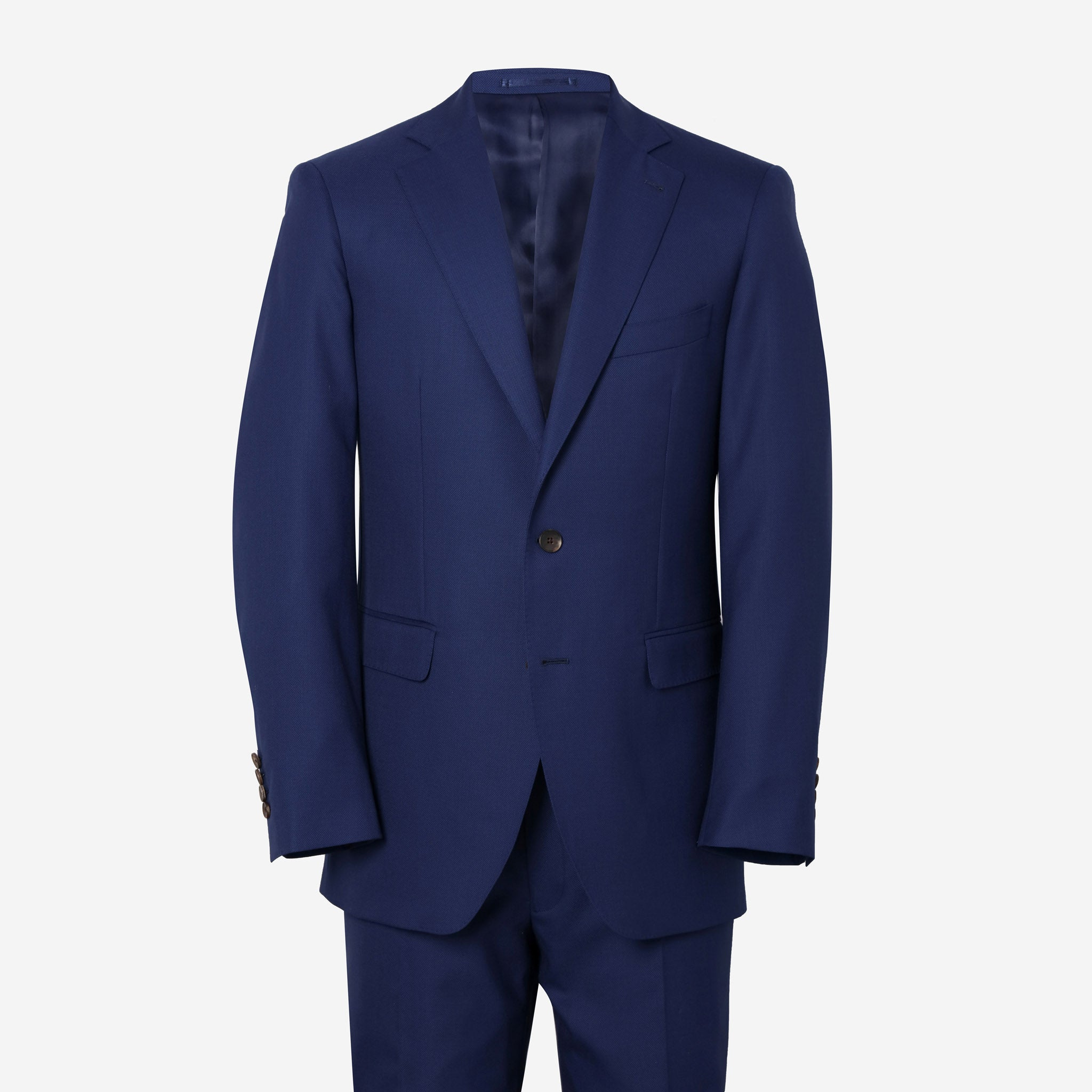 Essentials Luxe Suiting in British Blue Hopsack