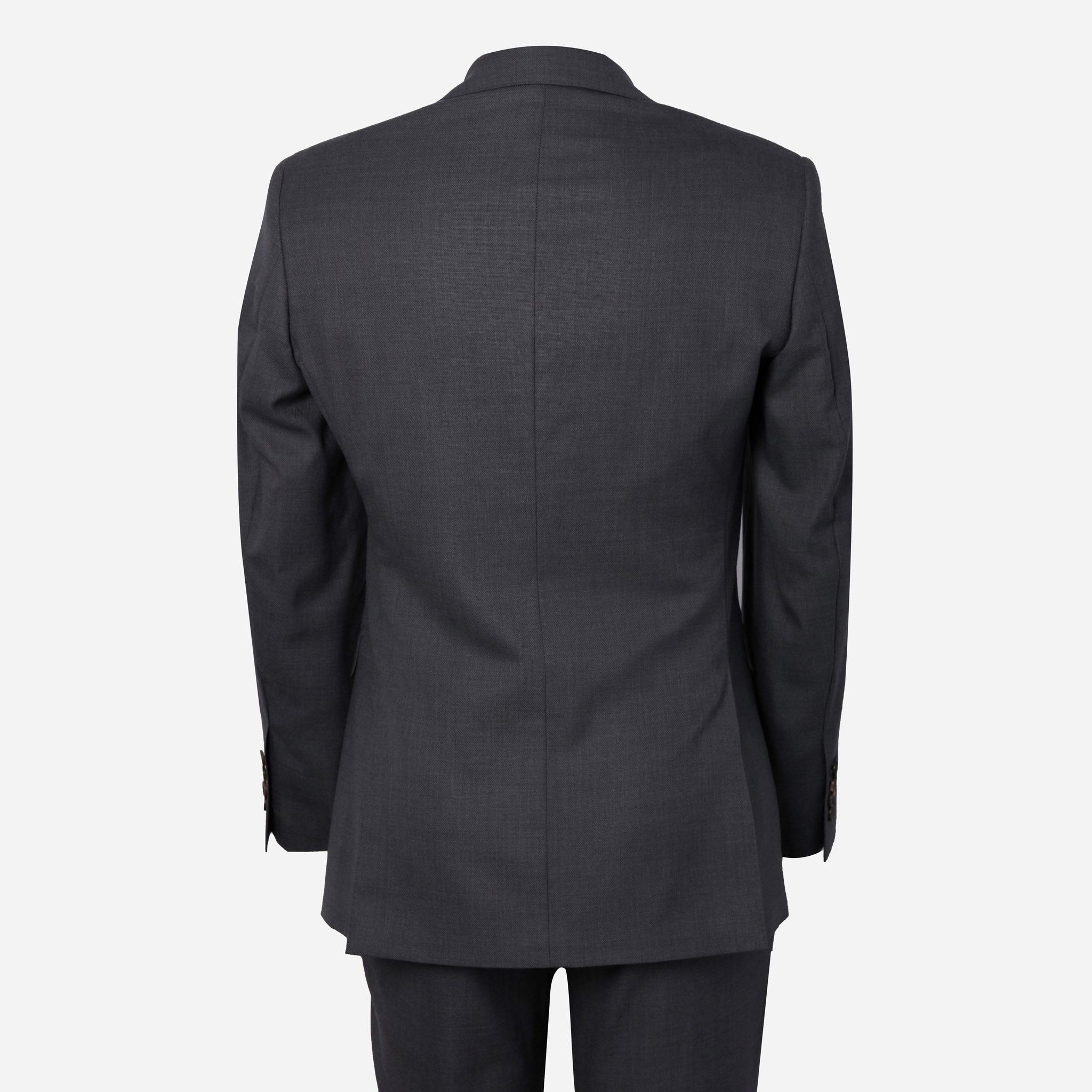 Essentials Luxe Suiting in Medium Gray Hopsack