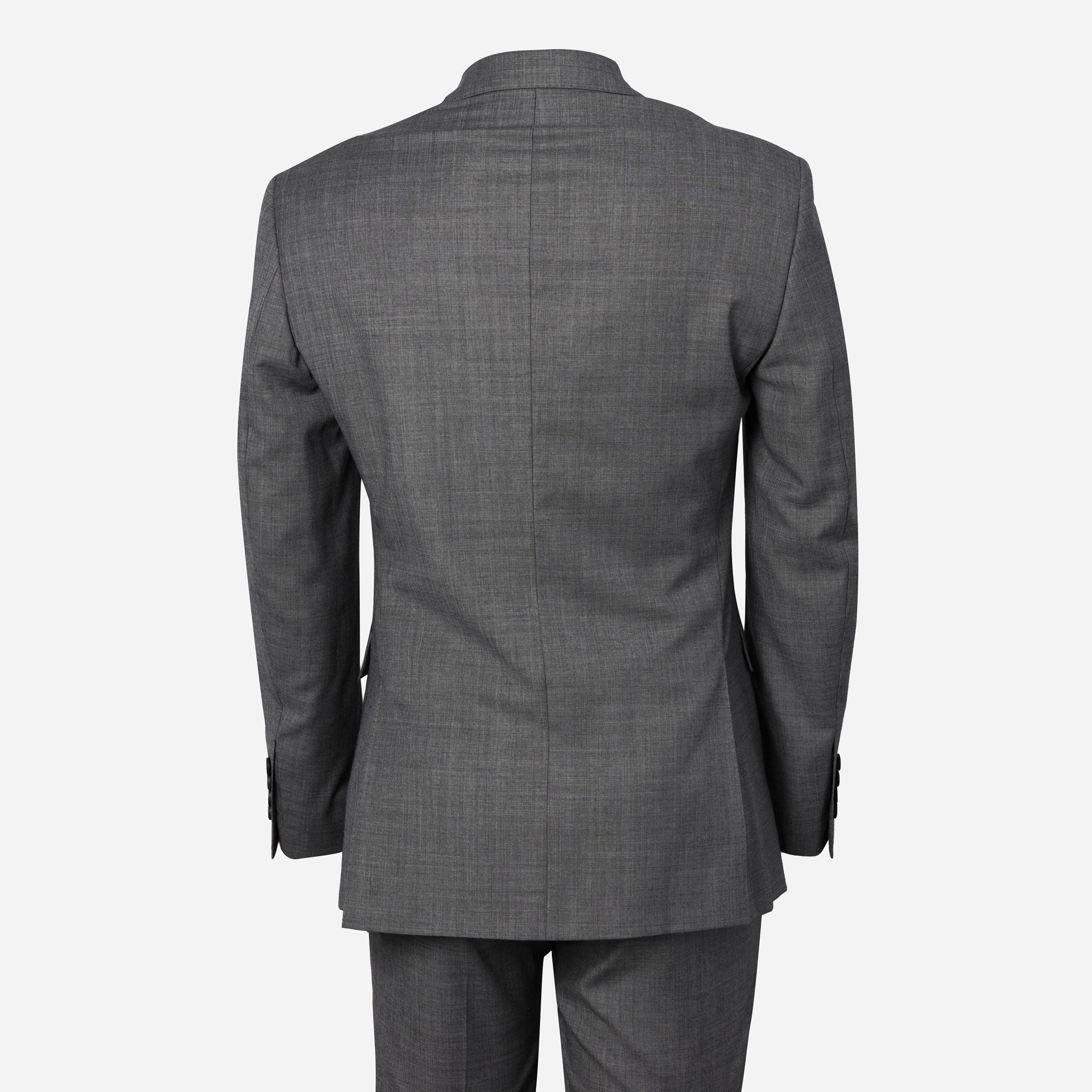 Essentials Premium Suiting in Medium Grey Sharkskin
