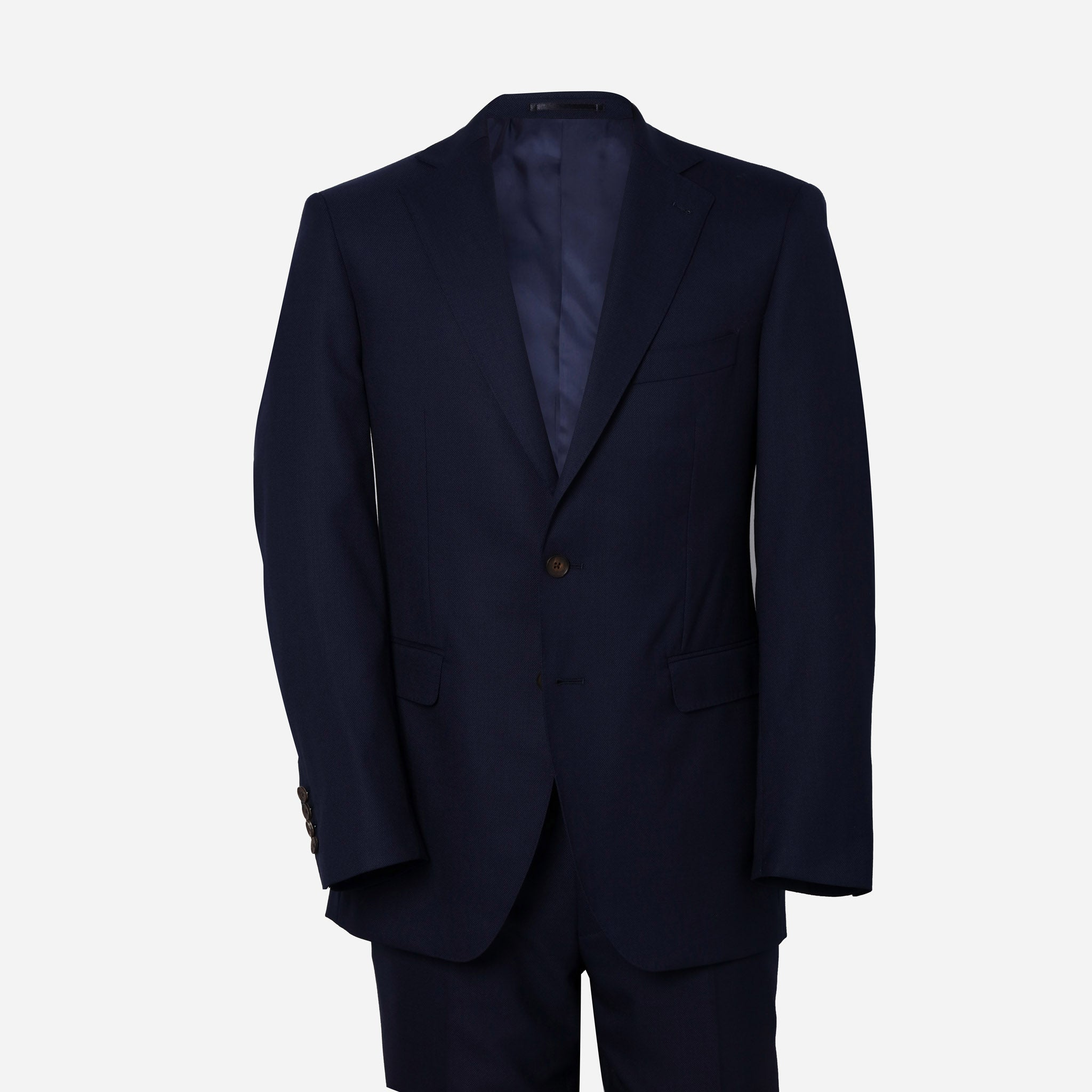 Essentials Luxe Suiting in Navy Hopsack