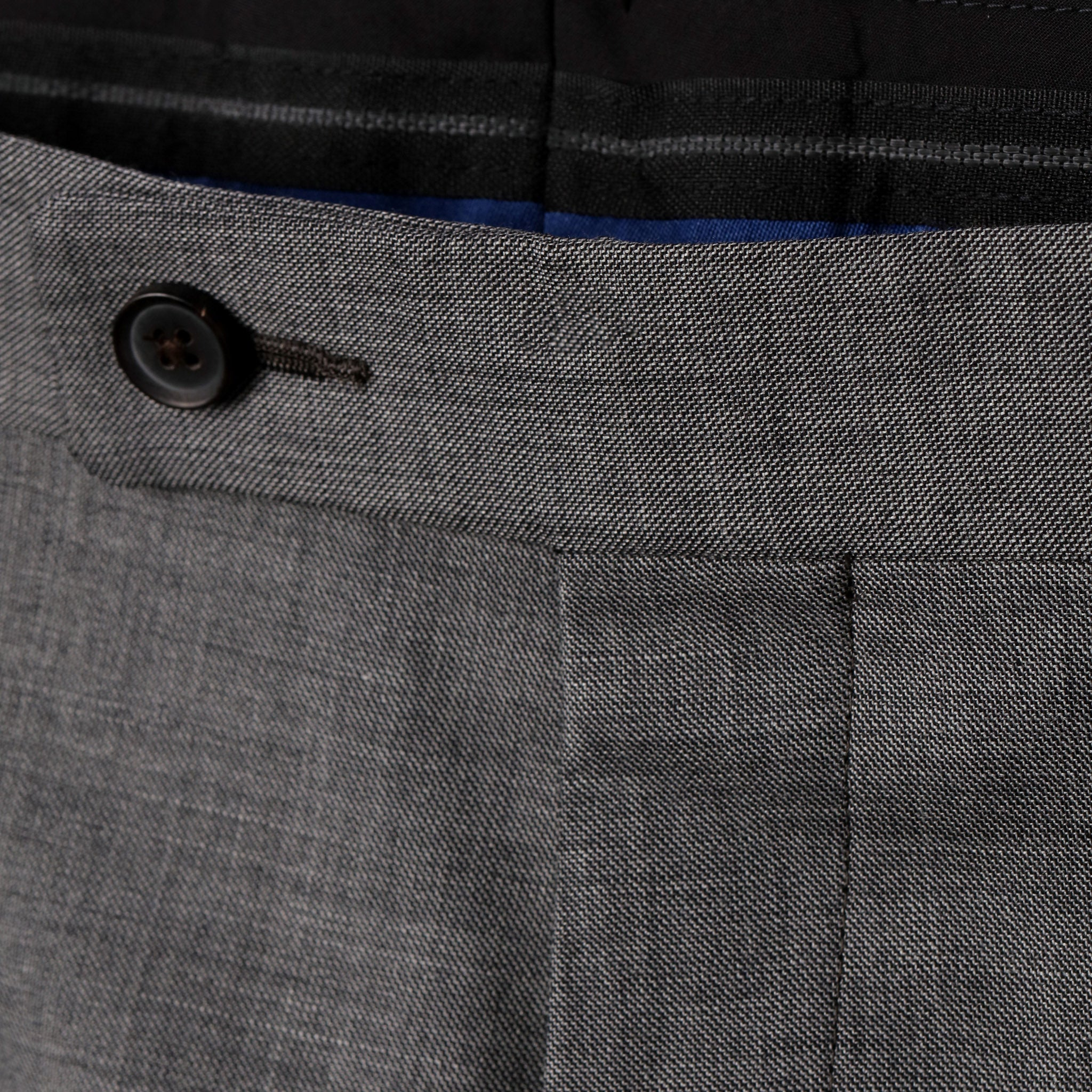 Essential Luxe Trousers in Medium Grey Sharkskin