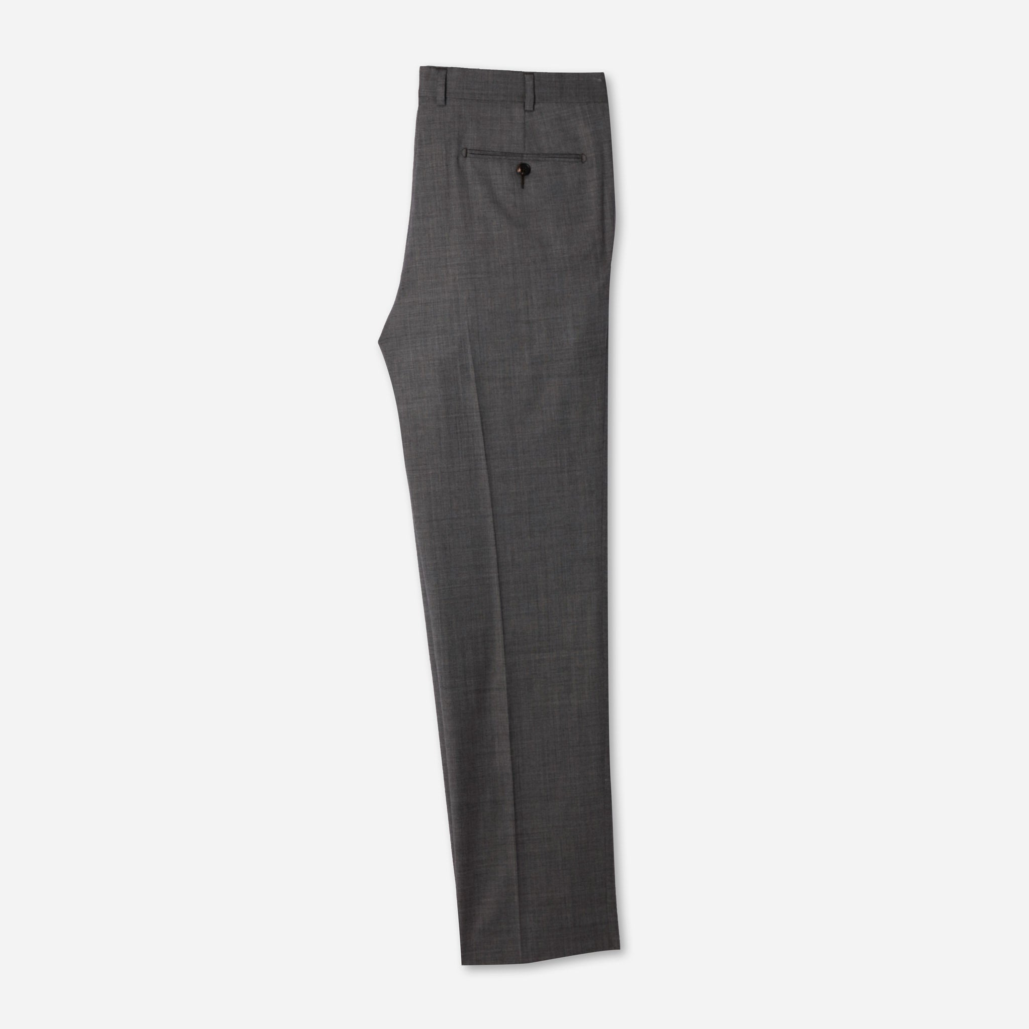 Essential Everyday Trousers in Medium Gray Sharkskin