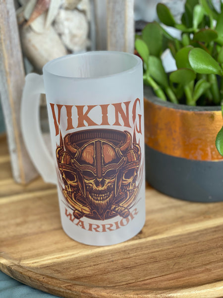 Viking Warrior Keyring, mug or beer glass
